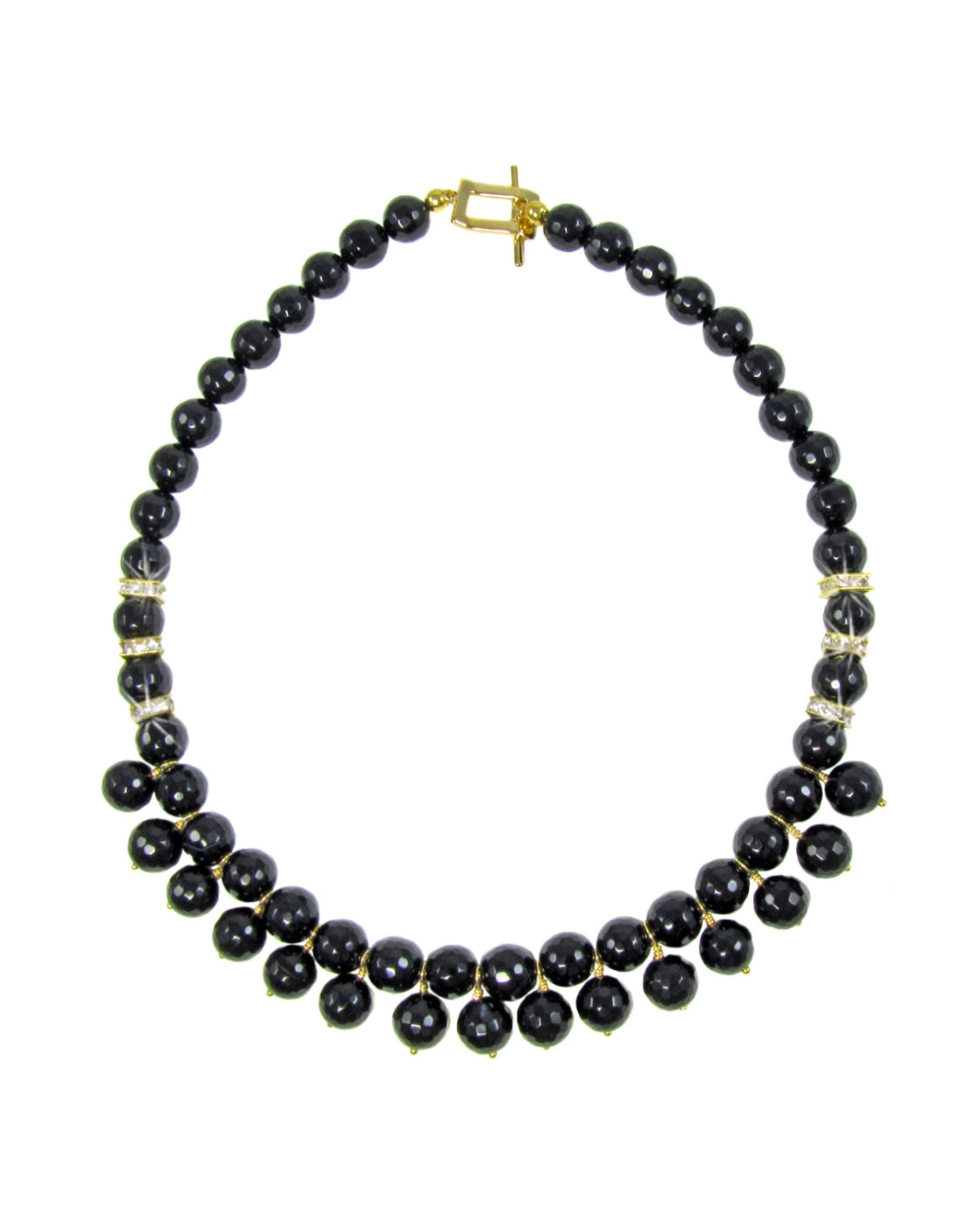 MARIANNA- Black gemstone short Necklace -maria-moyseos