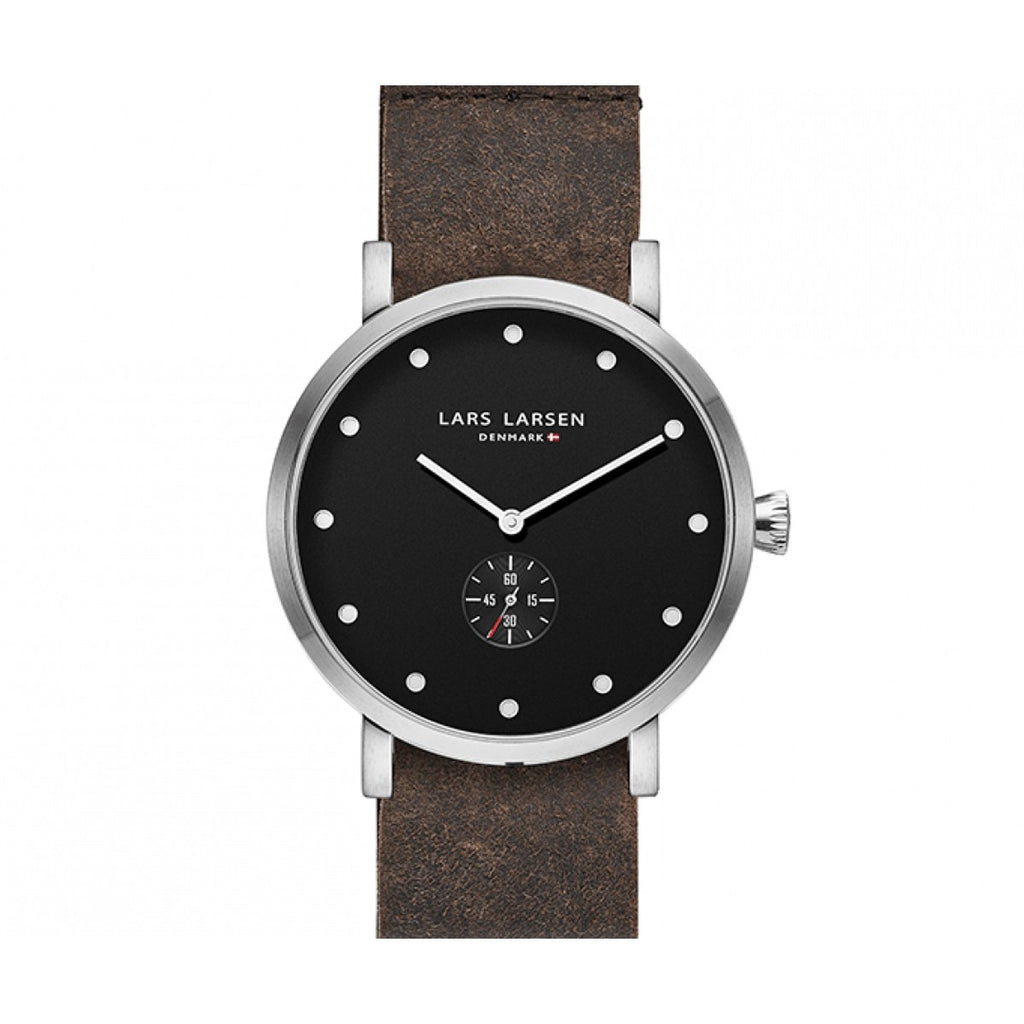Steel watch with leather zulu strap