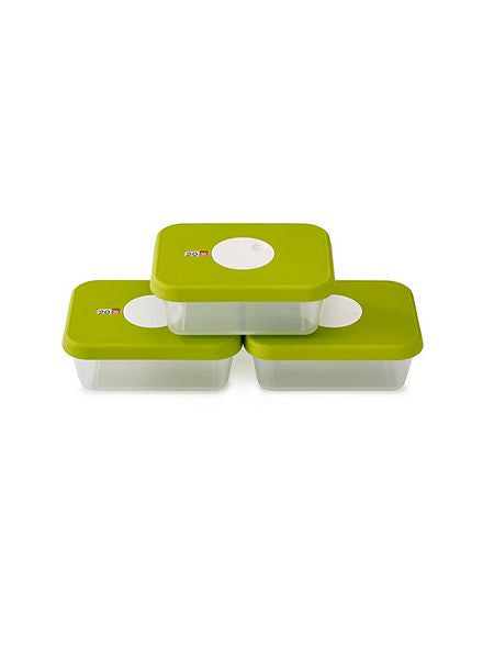 3 set storage containers with datable lid rectangular