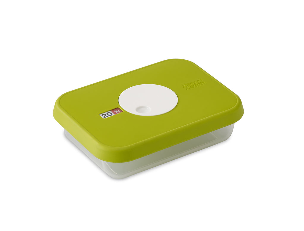 Storage container with datable lid rectangular 1 L