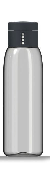 Dot hydration-tracking water bottle 600 mL - Grey