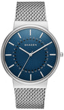Ancher Blue Dial Stainless Steel Men's Watch