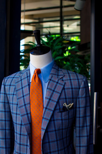 Grey Window Pane Hopsack Sports Jacket