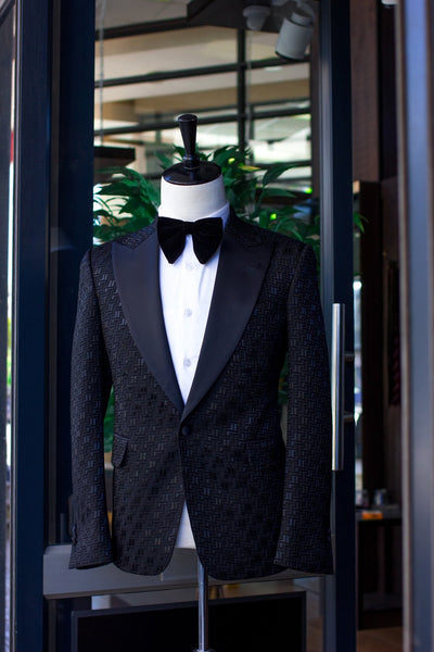 Black Jacquard Dinner Jacket