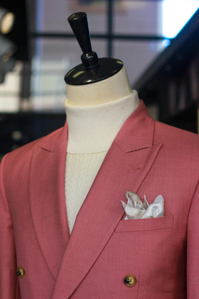 Salmon Double Breasted Blazer
