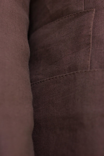 Brown Linen Sports Jacket