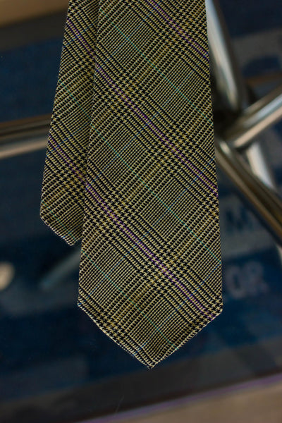 Light Green Check 7-Fold Tie