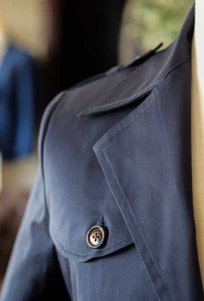 Navy Zip & Button Jacket