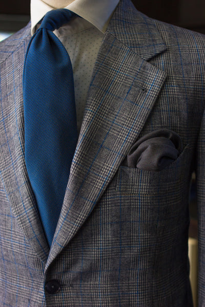 Grey & Blue Linen Sports Jacket