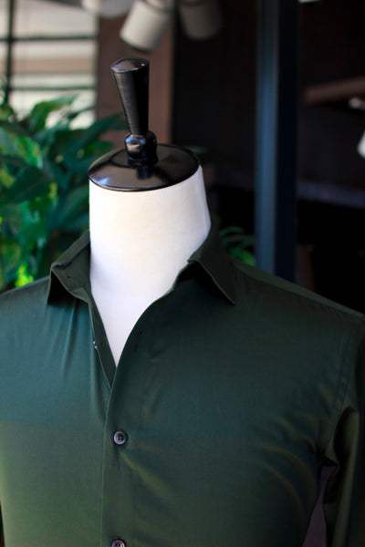 Green Detachable Collar Shirt