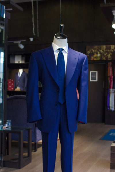 Blue Birdseye 2-Piece Suit