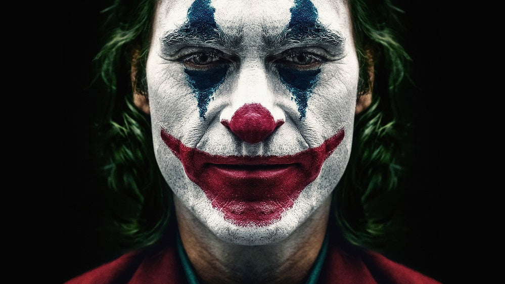 X288- XXL Leinwandbilder - Joker Make Up Face Bösewicht im Film Batman