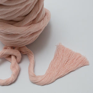 Blush // Macrame Luxe Cotton String - 13mm - Cotton String - Mary Maker Studio - [macrame] - [weaving] - [macrame_art] - [macrame_rope] - [macrame_cord] - [macrame_workshops] - [macrame_string] - [learn-_to_macrame] - [macrame_patterns]