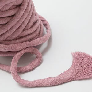 Dusty Rose // Macrame Luxe Cotton String - 13mm - Cotton String - Mary Maker Studio - [macrame] - [weaving] - [macrame_art] - [macrame_rope] - [macrame_cord] - [macrame_workshops] - [macrame_string] - [learn-_to_macrame] - [macrame_patterns]