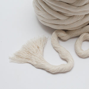 Natural // Macrame Luxe Cotton String - 12mm - Cotton String - Mary Maker Studio - [macrame] - [weaving] - [macrame_art] - [macrame_rope] - [macrame_cord] - [macrame_workshops] - [macrame_string] - [learn-_to_macrame] - [macrame_patterns]