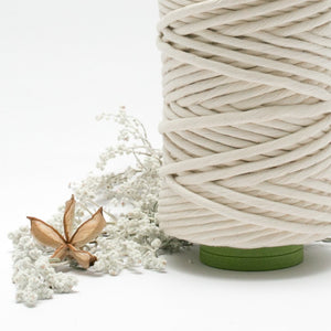 Natural // Macrame Luxe Cotton String - 9mm 1KG - Cotton String - Mary Maker Studio - [macrame] - [weaving] - [macrame_art] - [macrame_rope] - [macrame_cord] - [macrame_workshops] - [macrame_string] - [learn-_to_macrame] - [macrame_patterns]