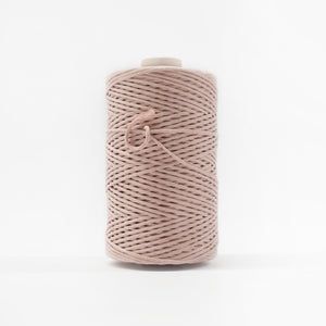 Mary Maker Studio Luxe Colour Cotton 3mm 1KG Recycled Luxe Macrame String // Bisque macrame cotton macrame rope macrame workshop macrame patterns macrame
