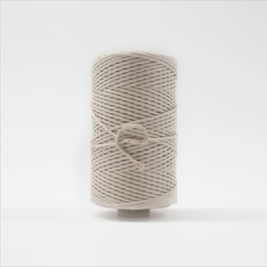 Mary Maker Studio Luxe Colour Cotton 3mm 1KG Recycled Luxe Macrame String // Natural macrame cotton macrame rope macrame workshop macrame patterns macrame