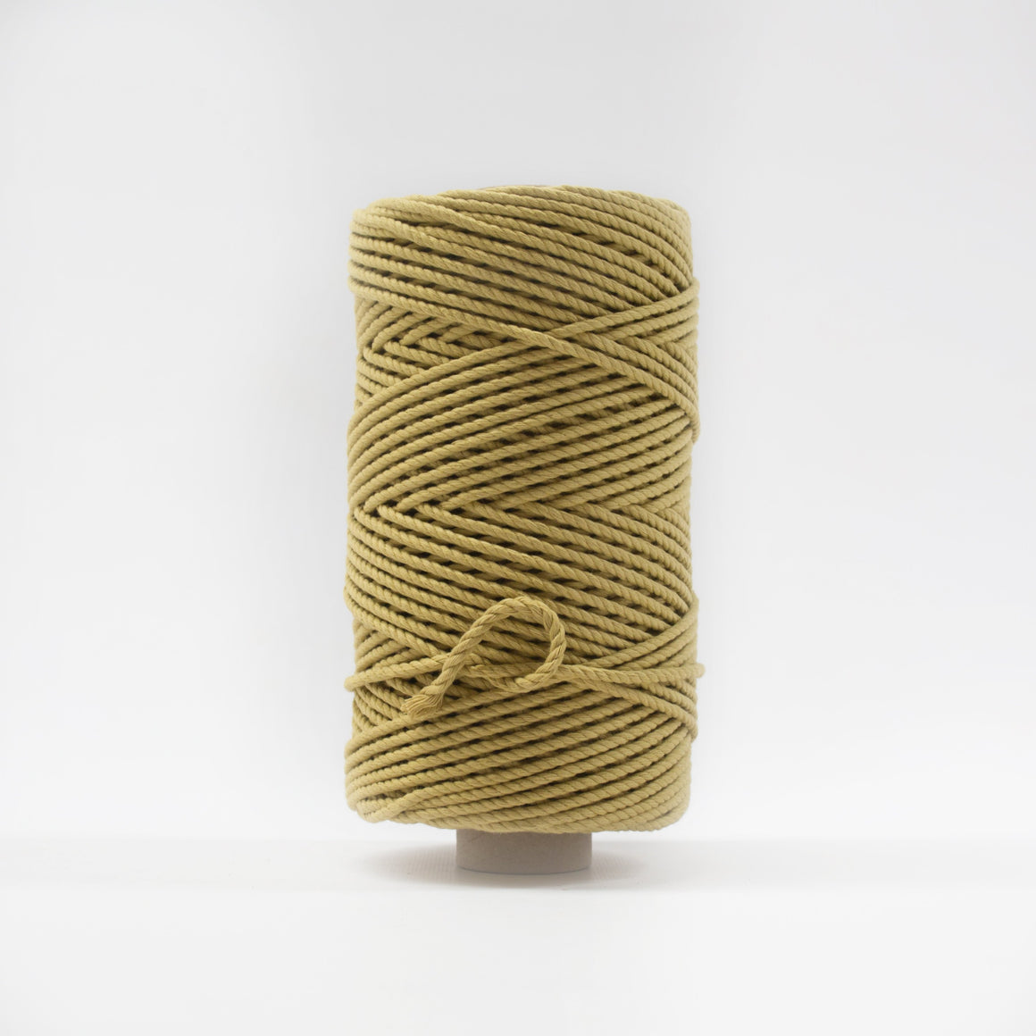 Mary Maker Studio Luxe Colour Cotton 4mm 1KG Recycled Luxe Macrame Rope // Antique Gold macrame cotton macrame rope macrame workshop macrame patterns macrame