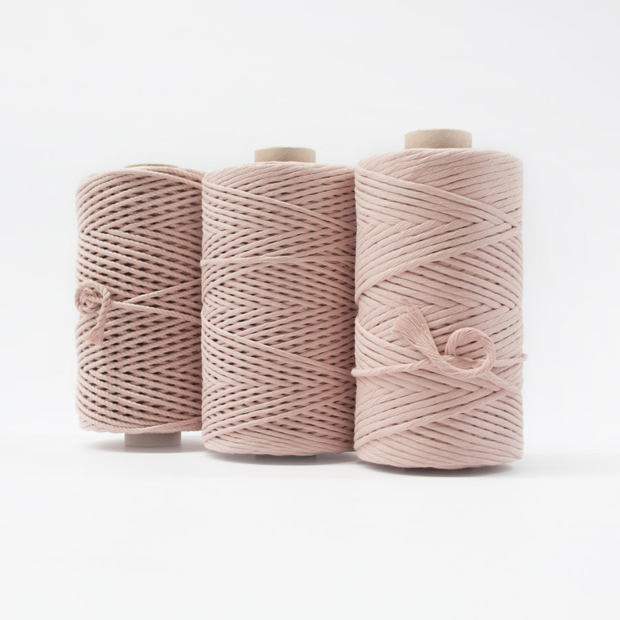 Mary Maker Studio Luxe Colour Cotton 4mm 1KG Recycled Luxe Macrame Rope // Bisque macrame cotton macrame rope macrame workshop macrame patterns macrame
