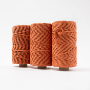 Mary Maker Studio Luxe Colour Cotton 4mm 1KG Recycled Luxe Macrame Rope // Citrine macrame cotton macrame rope macrame workshop macrame patterns macrame