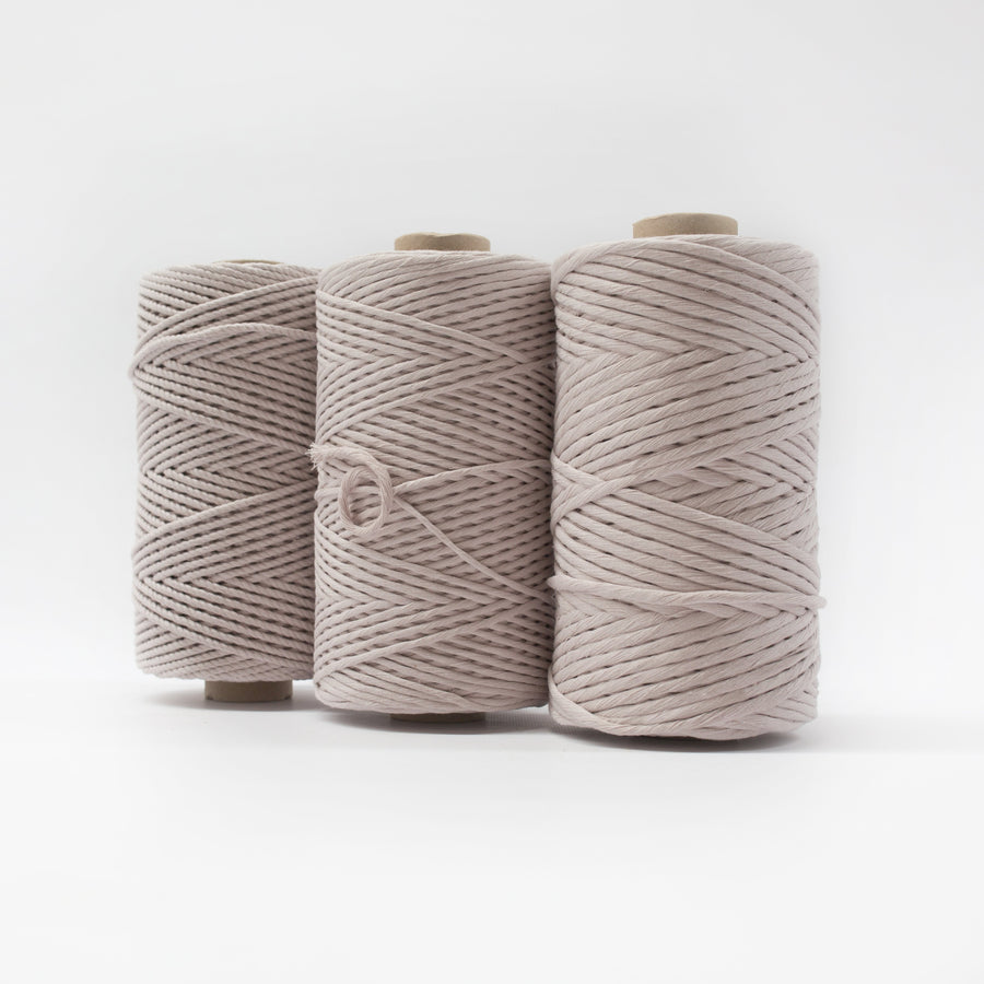 Mary Maker Studio Luxe Colour Cotton 4mm 1KG Recycled Luxe Macrame Rope // Linen macrame cotton macrame rope macrame workshop macrame patterns macrame