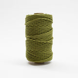 Mary Maker Studio Luxe Colour Cotton 4mm 1KG Recycled Luxe Macrame Rope // Olive Green macrame cotton macrame rope macrame workshop macrame patterns macrame