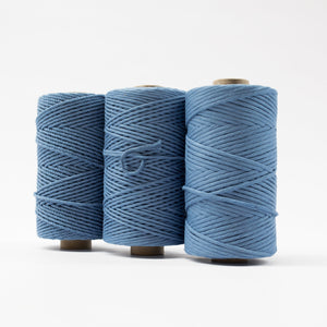 Mary Maker Studio Luxe Colour Cotton 4mm 1KG Recycled Luxe Macrame Rope // Parisian Blue macrame cotton macrame rope macrame workshop macrame patterns macrame