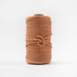 Mary Maker Studio Luxe Colour Cotton 4mm 1KG Recycled Luxe Macrame Rope // Peach macrame cotton macrame rope macrame workshop macrame patterns macrame
