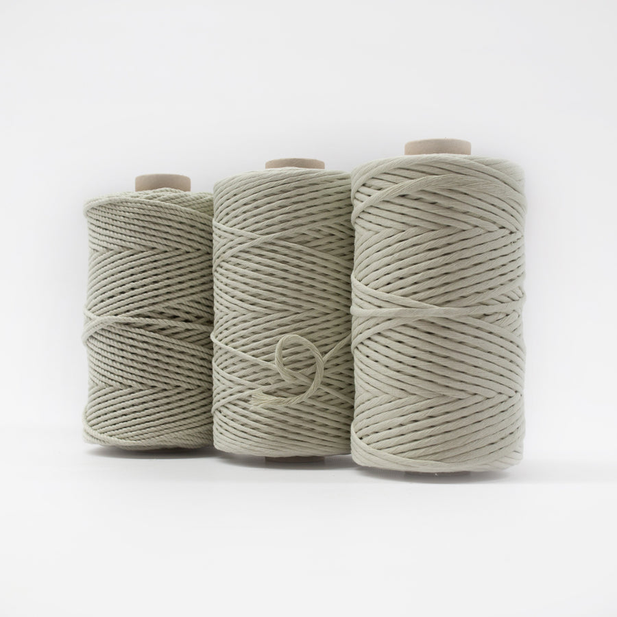 Mary Maker Studio Luxe Colour Cotton 4mm 1KG Recycled Luxe Macrame Rope // Peppermint macrame cotton macrame rope macrame workshop macrame patterns macrame