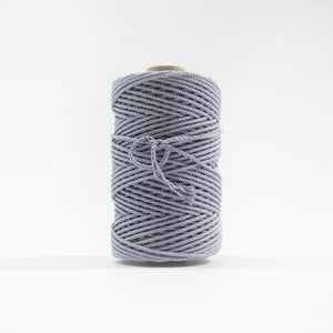 Mary Maker Studio Luxe Colour Cotton 4mm 1KG Recycled Luxe Macrame Rope // Periwinkle macrame cotton macrame rope macrame workshop macrame patterns macrame