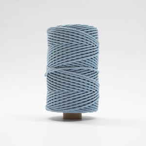 Mary Maker Studio Luxe Colour Cotton 4mm 1KG Recycled Luxe Macrame Rope // Powder Blue macrame cotton macrame rope macrame workshop macrame patterns macrame