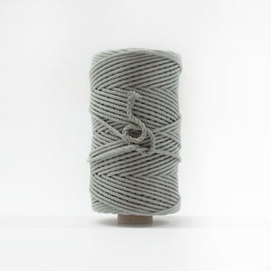 Mary Maker Studio Luxe Colour Cotton 4mm 1KG Recycled Luxe Macrame Rope // Silver Sage macrame cotton macrame rope macrame workshop macrame patterns macrame