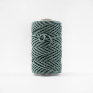 Mary Maker Studio Luxe Colour Cotton 4mm 1KG Recycled Luxe Macrame Rope // Vintage Teal macrame cotton macrame rope macrame workshop macrame patterns macrame