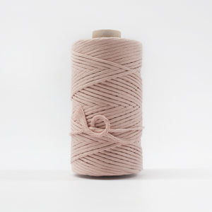 Mary Maker Studio Luxe Colour Cotton 5mm 1KG Recycled Luxe Macrame String // Bisque macrame cotton macrame rope macrame workshop macrame patterns macrame