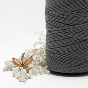 Pewter // Macrame Cotton String - Luxe Colour Cotton - Mary Maker Studio - [macrame] - [weaving] - [macrame_art] - [macrame_rope] - [macrame_cord] - [macrame_workshops] - [macrame_string] - [learn-_to_macrame] - [macrame_patterns]