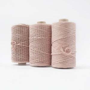 Mary Maker Studio Luxe Colour Cotton Recycled Luxe Macrame String // Bisque macrame cotton macrame rope macrame workshop macrame patterns macrame