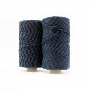Mary Maker Studio Luxe Colour Cotton Recycled Luxe Macrame String // Navy Blue macrame cotton macrame rope macrame workshop macrame patterns macrame