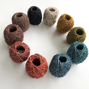 Hemp Twine- 10 colours - speciality fibre - Mary Maker Studio - [macrame] - [weaving] - [macrame_art] - [macrame_rope] - [macrame_cord] - [macrame_workshops] - [macrame_string] - [learn-_to_macrame] - [macrame_patterns]
