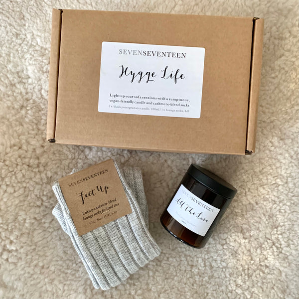 Hygge Life Socks / Black Pomegranate Candle