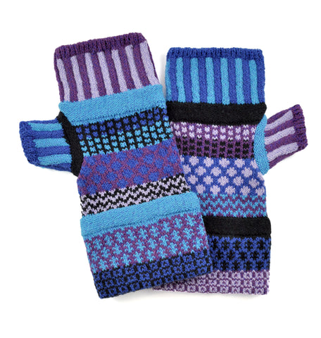 Fingerless Mittens Raspberry