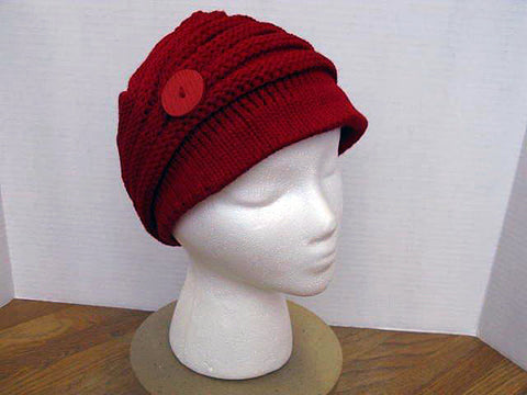 Button n Brim Red