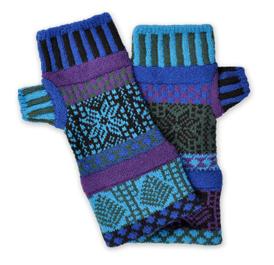 Fingerless Mittens Blue Spruce