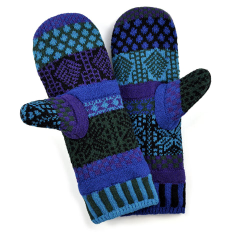 Mittens Fleece Lined Blue Spruce