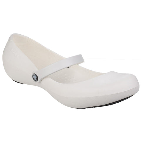 Crocs Non-Slip Footwear Crocs White Alice Work Slip on Shoe