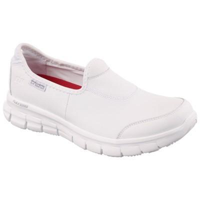 Skechers Non-Slip Footwear Skechers White Sure Track Slip Resistant Slip on Work Shoe