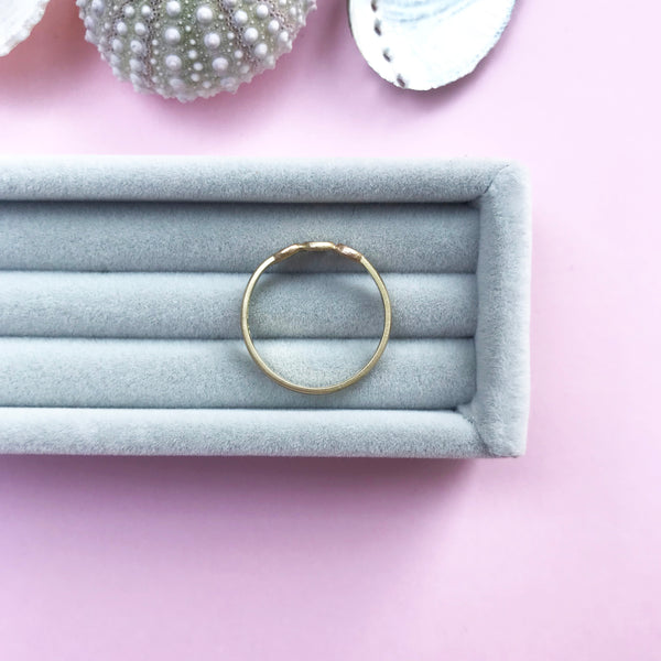 18ct gold delicate stacking ring, handmade jewellery by AB Jewellery, Goldsmith