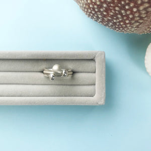 sterling silver pebble stacking rings with a choice of finish, personalised jewellery, made by Ami of AB Jewellery, Goldsmith