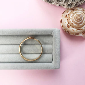 9ct gold personalised initial stacking ring, handmade jewellery by AB Jewellery, Goldsmith