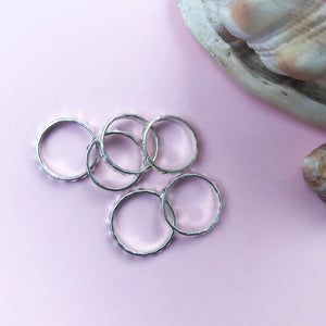 Facet Silver Stacking ring